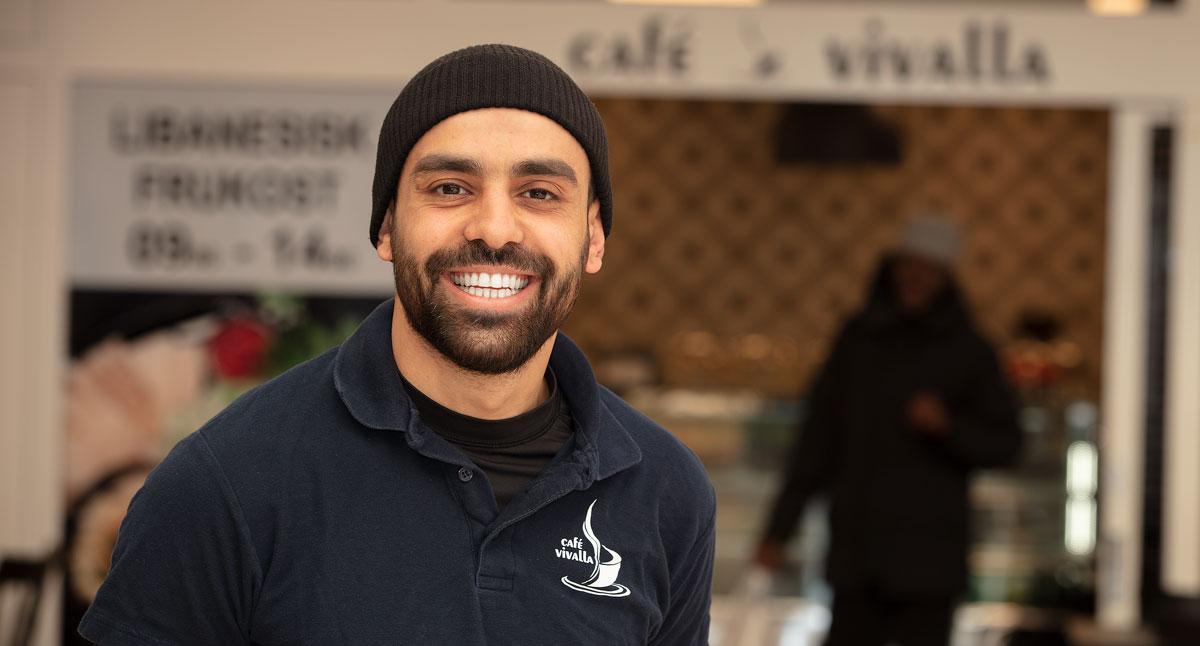 Hussein Fawaz, ägare till Café Vivalla.