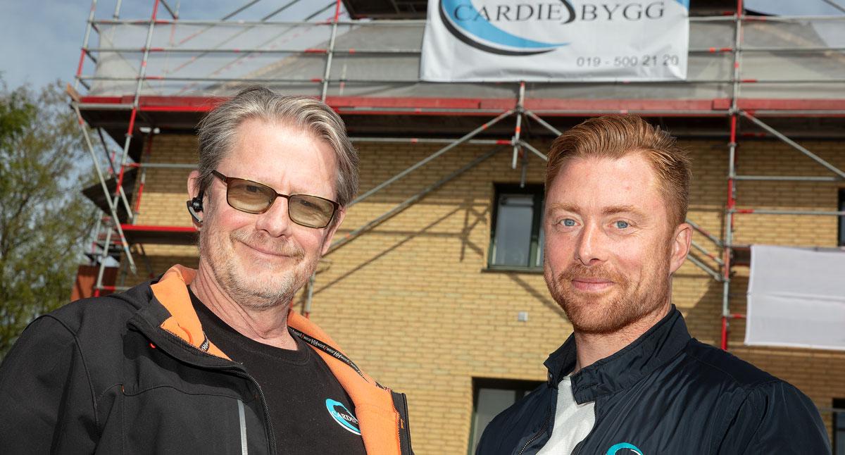 Torbjörn Löfström och Mathias Lennartsson på Cardie Bygg.
