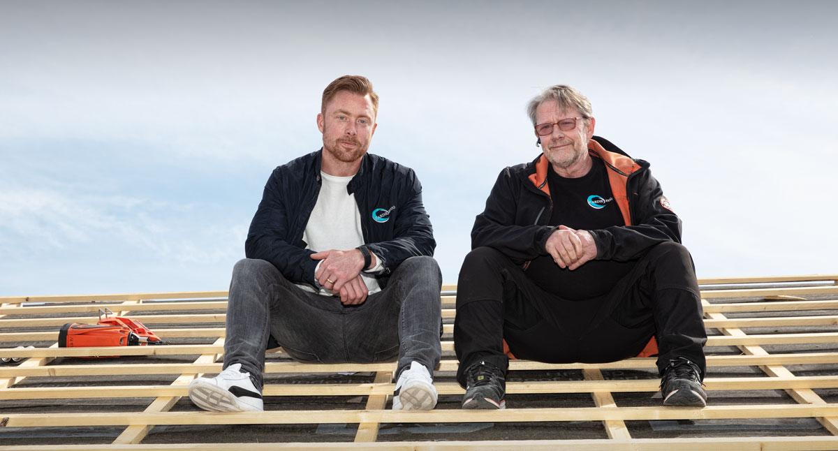 Mathias Lennartsson och Torbjörn Löfström på Cardie Bygg.