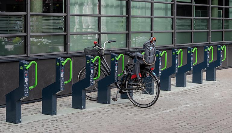 Digitala och stöldsäkra cykelställ
